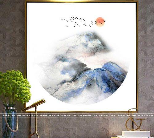 Bo tranh Canvas treo tuong trang tri phong khach truu tuong TT0011