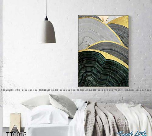 Bo tranh Canvas treo tuong trang tri phong khach truu tuong TT0015
