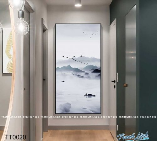 Bo tranh Canvas treo tuong trang tri phong khach truu tuong TT0020