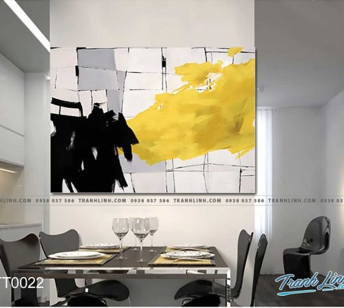 Bo tranh Canvas treo tuong trang tri phong khach truu tuong TT0022