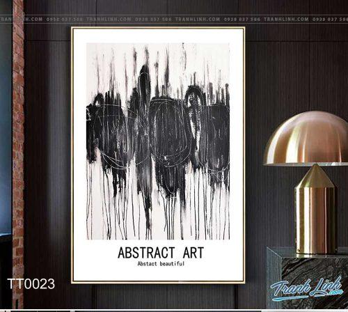 Bo tranh Canvas treo tuong trang tri phong khach truu tuong TT0023