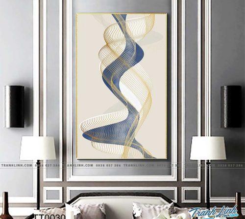 Bo tranh Canvas treo tuong trang tri phong khach truu tuong TT0030