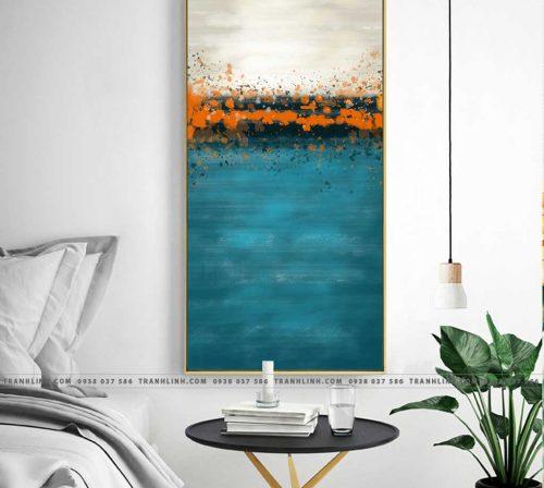Bo tranh Canvas treo tuong trang tri phong khach truu tuong TT0041