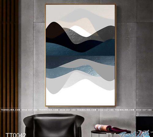 Bo tranh Canvas treo tuong trang tri phong khach truu tuong TT0042