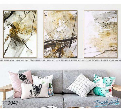 Bo tranh Canvas treo tuong trang tri phong khach truu tuong TT0047