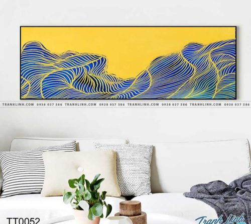 Bo tranh Canvas treo tuong trang tri phong khach truu tuong TT0052