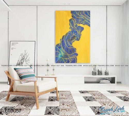 Bo tranh Canvas treo tuong trang tri phong khach truu tuong TT0057