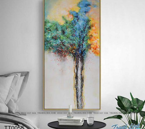 Bo tranh Canvas treo tuong trang tri phong khach truu tuong TT0058