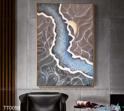 Bo tranh Canvas treo tuong trang tri phong khach truu tuong TT0059