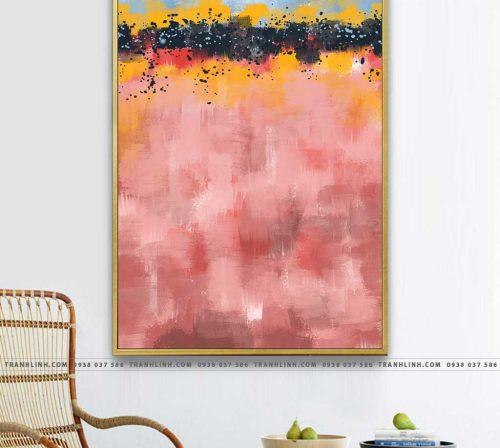 Bo tranh Canvas treo tuong trang tri phong khach truu tuong TT0061