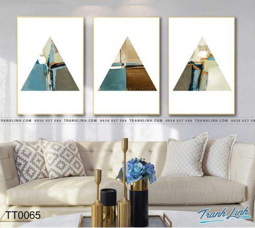Bo tranh Canvas treo tuong trang tri phong khach truu tuong TT0065
