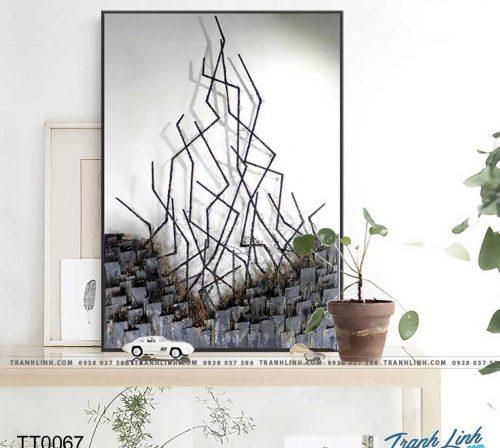 Bo tranh Canvas treo tuong trang tri phong khach truu tuong TT0067