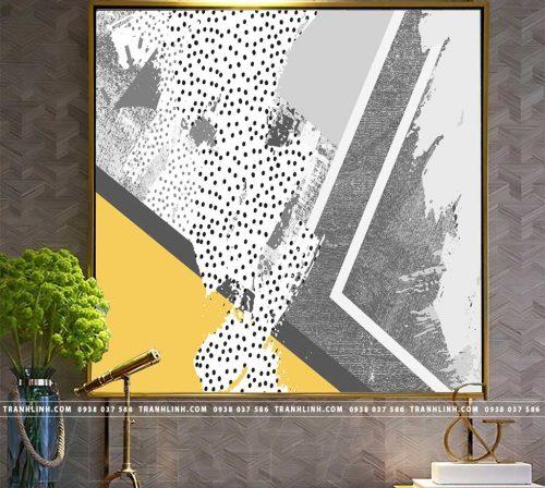 Bo tranh Canvas treo tuong trang tri phong khach truu tuong TT0071