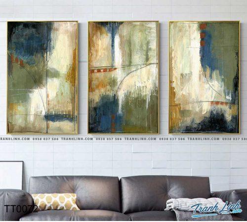 Bo tranh Canvas treo tuong trang tri phong khach truu tuong TT0072