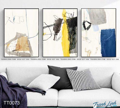 Bo tranh Canvas treo tuong trang tri phong khach truu tuong TT0073