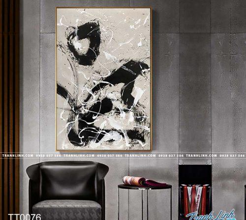 Bo tranh Canvas treo tuong trang tri phong khach truu tuong TT0076