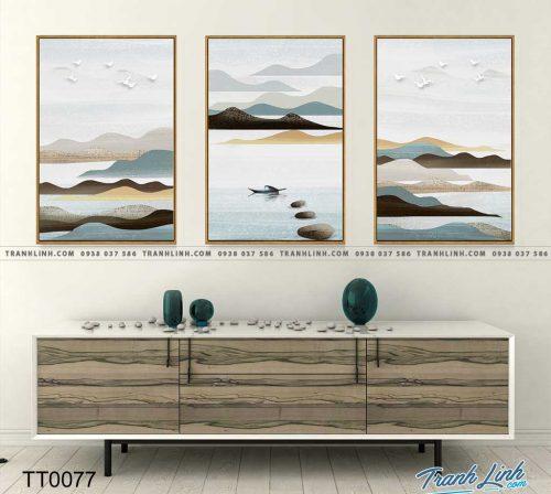 Bo tranh Canvas treo tuong trang tri phong khach truu tuong TT0077 1