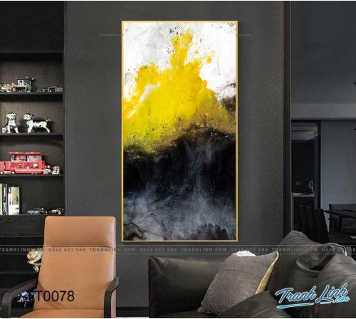 Bo tranh Canvas treo tuong trang tri phong khach truu tuong TT0078