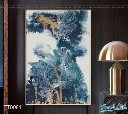 Bo tranh Canvas treo tuong trang tri phong khach truu tuong TT0081