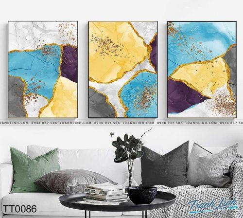 Bo tranh Canvas treo tuong trang tri phong khach truu tuong TT0086