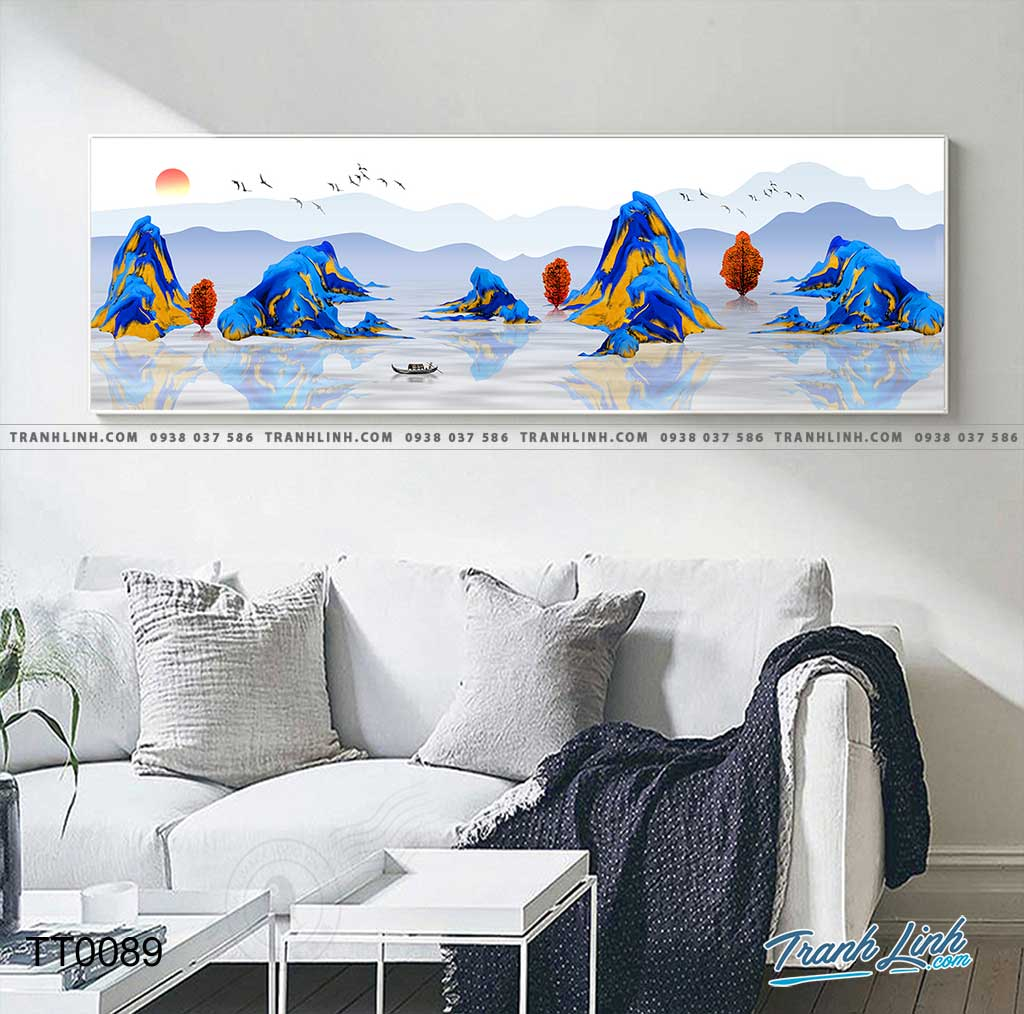 Bo tranh Canvas treo tuong trang tri phong khach truu tuong TT0089