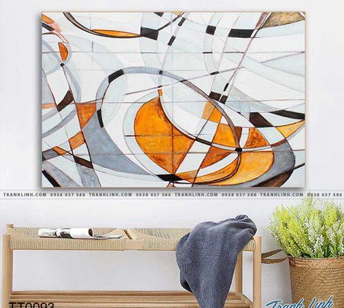 Bo tranh Canvas treo tuong trang tri phong khach truu tuong TT0093
