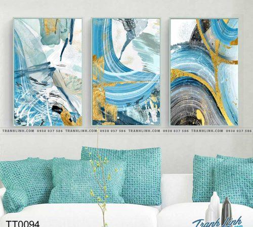 Bo tranh Canvas treo tuong trang tri phong khach truu tuong TT0094