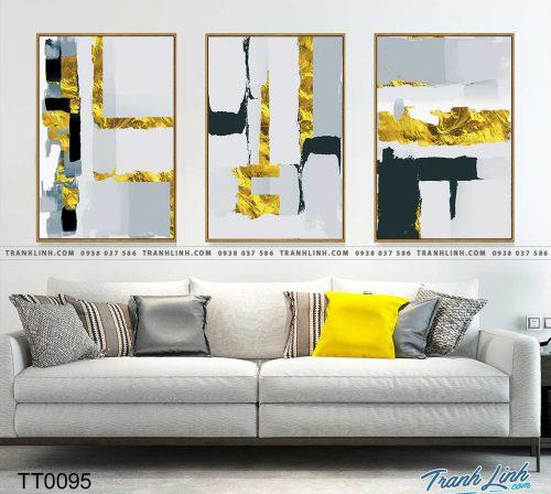 Bo tranh Canvas treo tuong trang tri phong khach truu tuong TT0095