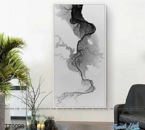 Bo tranh Canvas treo tuong trang tri phong khach truu tuong TT0098