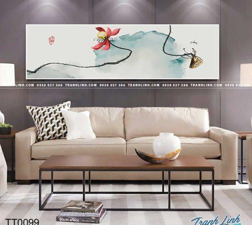 Bo tranh Canvas treo tuong trang tri phong khach truu tuong TT0099