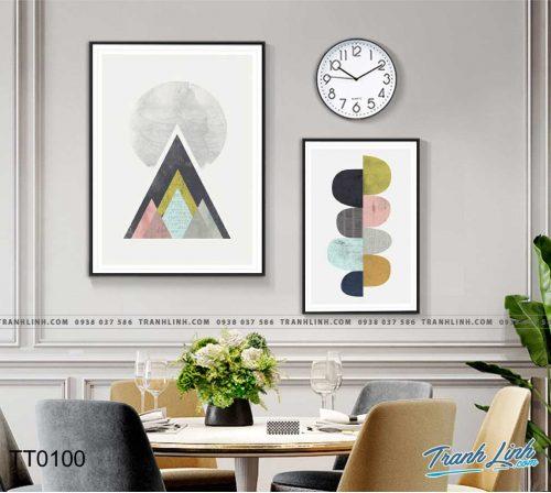 Bo tranh Canvas treo tuong trang tri phong khach truu tuong TT0100