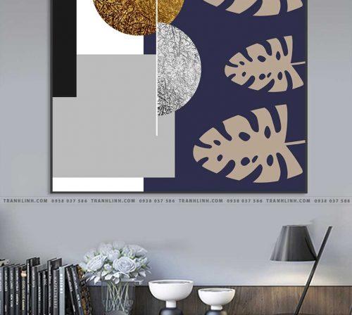 Bo tranh Canvas treo tuong trang tri phong khach truu tuong TT0104
