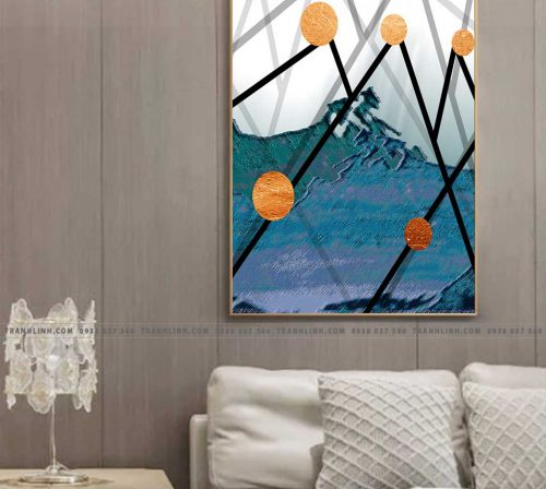 Bo tranh Canvas treo tuong trang tri phong khach truu tuong TT0105