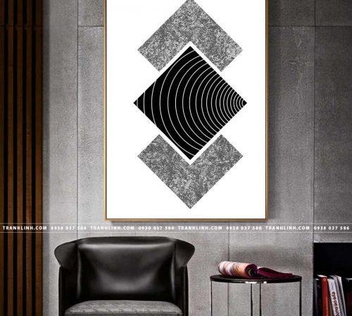 Bo tranh Canvas treo tuong trang tri phong khach truu tuong TT0108
