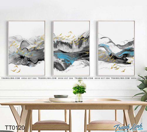 Bo tranh Canvas treo tuong trang tri phong khach truu tuong TT0120