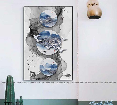 Bo tranh Canvas treo tuong trang tri phong khach truu tuong TT0121