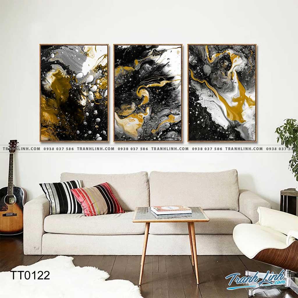 Bo tranh Canvas treo tuong trang tri phong khach truu tuong TT0122