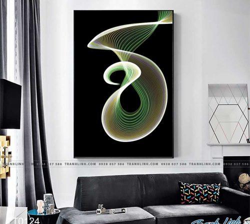 Bo tranh Canvas treo tuong trang tri phong khach truu tuong TT0124