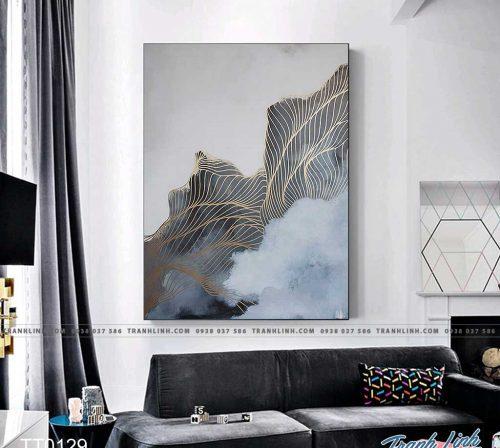 Bo tranh Canvas treo tuong trang tri phong khach truu tuong TT0129