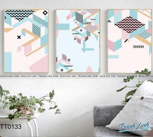 Bo tranh Canvas treo tuong trang tri phong khach truu tuong TT0133