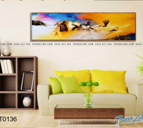 Bo tranh Canvas treo tuong trang tri phong khach truu tuong TT0136