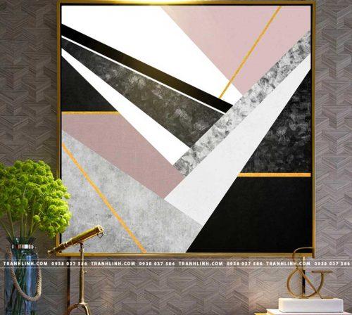 Bo tranh Canvas treo tuong trang tri phong khach truu tuong TT0137