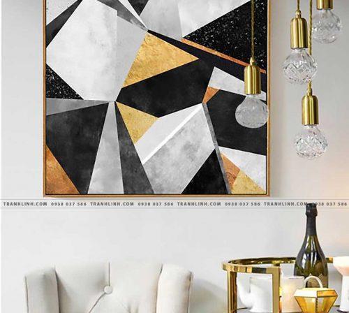 Bo tranh Canvas treo tuong trang tri phong khach truu tuong TT0147