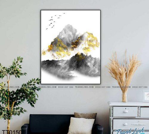 Bo tranh Canvas treo tuong trang tri phong khach truu tuong TT0150