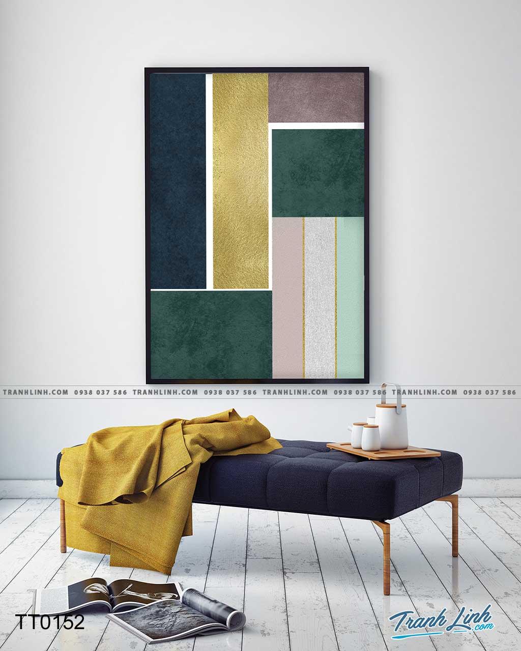 Bo tranh Canvas treo tuong trang tri phong khach truu tuong TT0152