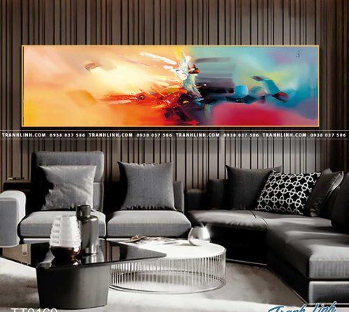 Bo tranh Canvas treo tuong trang tri phong khach truu tuong TT0160