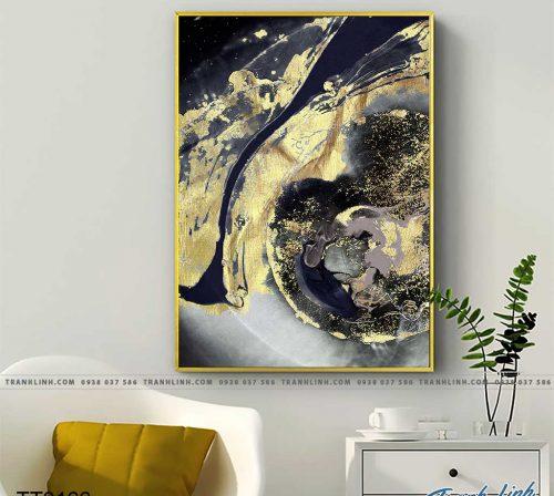 Bo tranh Canvas treo tuong trang tri phong khach truu tuong TT0166