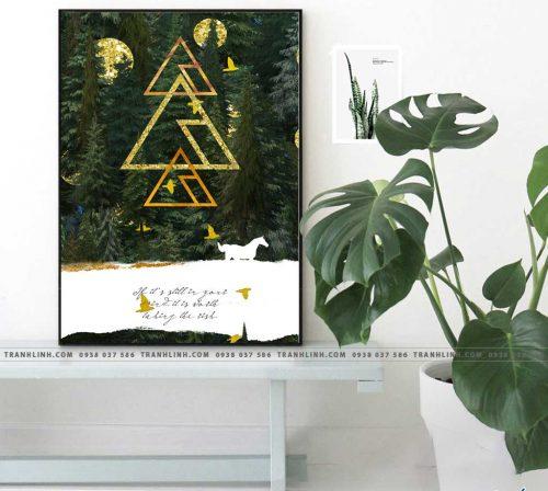 Bo tranh Canvas treo tuong trang tri phong khach truu tuong TT0170