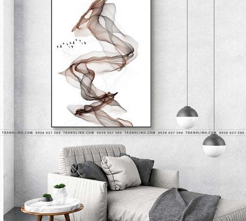 Bo tranh Canvas treo tuong trang tri phong khach truu tuong TT0178