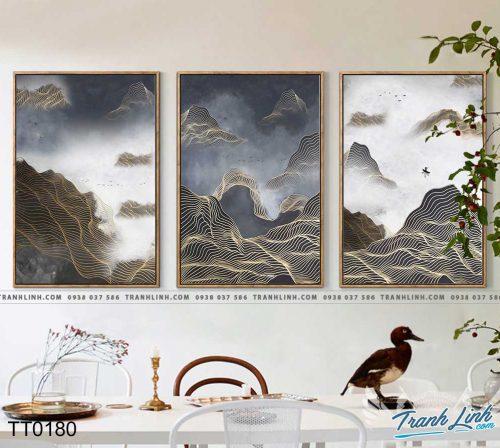 Bo tranh Canvas treo tuong trang tri phong khach truu tuong TT0180